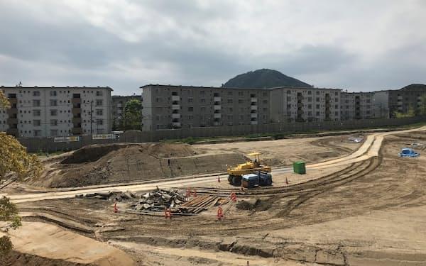 日の里団地(福岡県宗像市)の一画で計64戸の戸建住宅を新築する