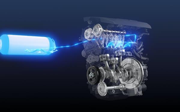 トヨタは水素を燃やして動力を得る「水素エンジン」を開発する(イメージ)