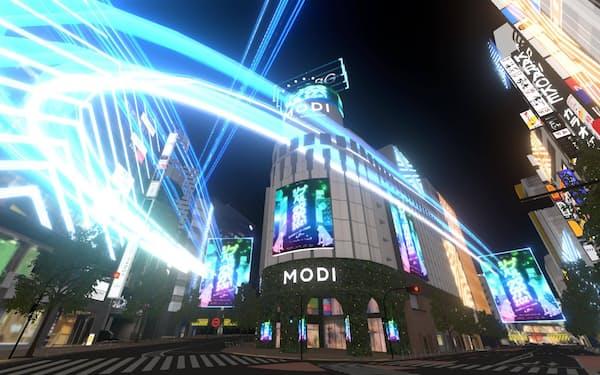 バーチャル渋谷は「公園通り」の入り口となる「渋谷モディ」前エリアまで拡張