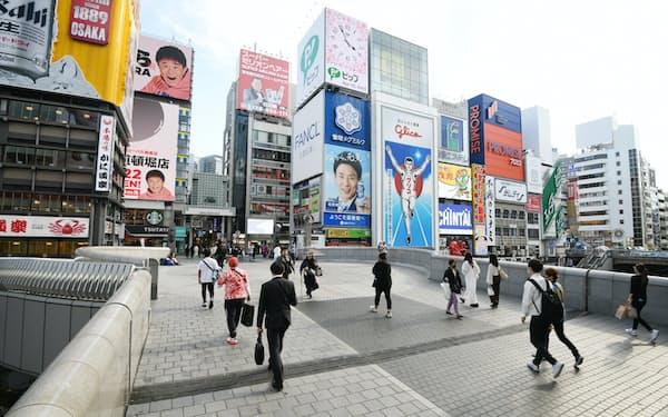 大阪市の繁華街・ミナミでは訪日観光客が激減している(22日、大阪・道頓堀)