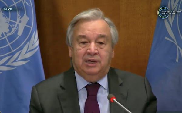 グテレス国連事務総長は22日の気候変動サミットで「世界中のリーダーが行動を起こすべきだ」と訴えた
