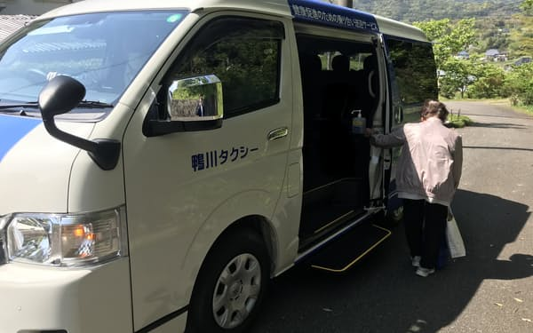 千葉トヨタは乗り合い車両の運行を開始した(千葉県鴨川市)