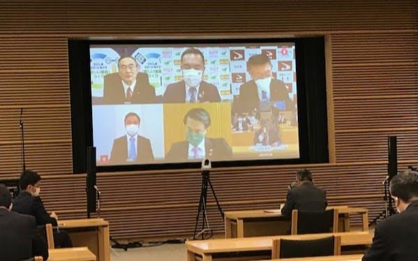 3度目の緊急事態宣言の発令を受け、オンライン会議を開催した(24日)
