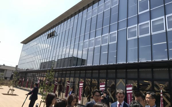 IT拠点のスマートシティアイクトには30社以上が進出した(福島県会津若松市)
