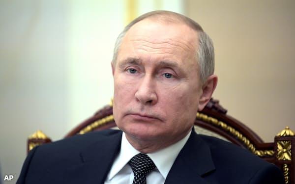プーチン氏は「非友好国」のリスト作成を関係機関に命じた(23日、モスクワ)=ロシア大統領府提供・AP