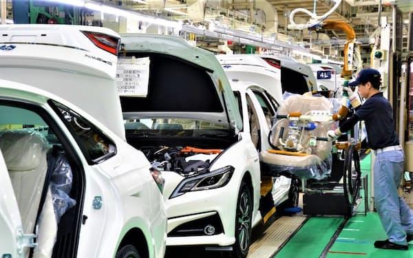 トヨタ自動車の販売台数は回復が続く(愛知県豊田市の元町工場)