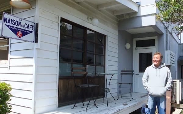 風間社長が自分で空き家を改装して始めたカフェが街づくりの起点だった(栃木県鹿沼市)