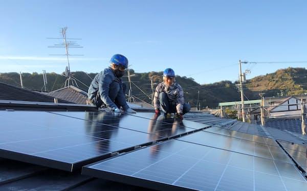 既存の戸建て住宅でも初期費用ゼロで太陽光発電システムを設置する(静岡市内)