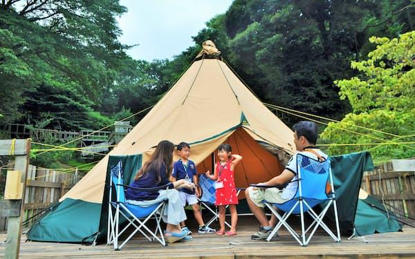 東京ドイツ村では大型連休中のキャンプ場の予約が埋まった