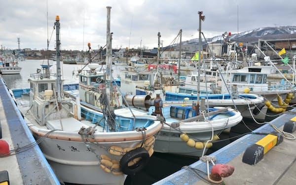 北海道寿都町は漁業が産業の中心だ(14日、同町)