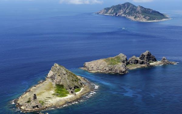沖縄県尖閣諸島周辺で活動する中国公船を「国際法違反」と断じた=共同