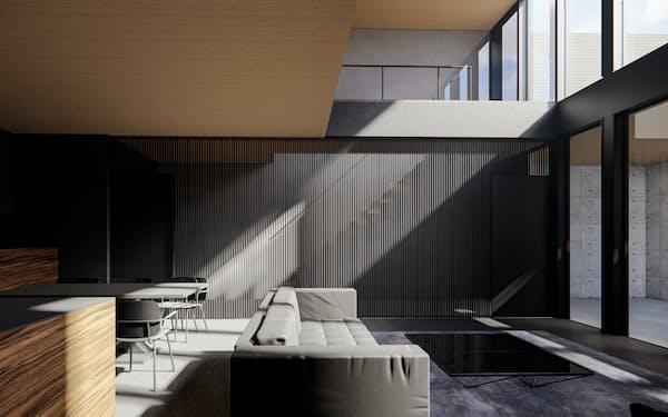 地下室なども自由設計でき、都心部の限られた空間を有効活用できる