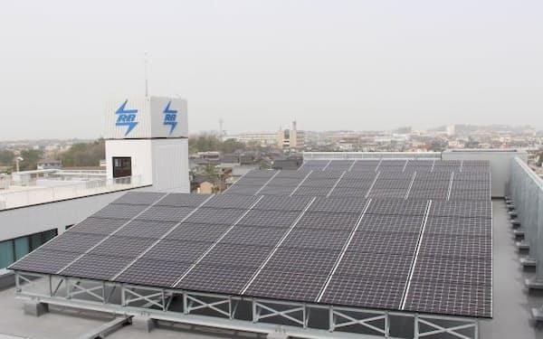 太陽光発電を導入したアール・ビー・コントロールズの新社屋