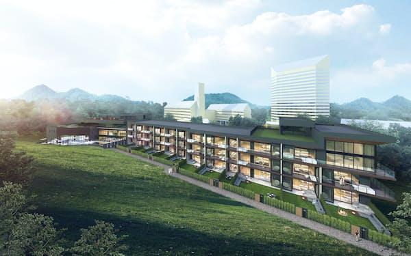 ANAインターコンチネンタル安比高原リゾートを新設し、欧米からの集客力を強化する(イメージ)