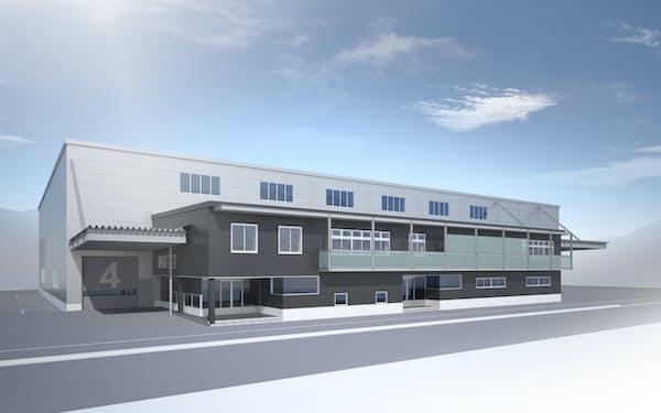 内山電機工業は主力工場を山形県上山市に新設する(完成予想図)