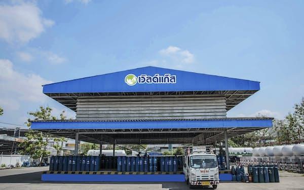 WPエナジー社のLPガスの充填所(バンコク)