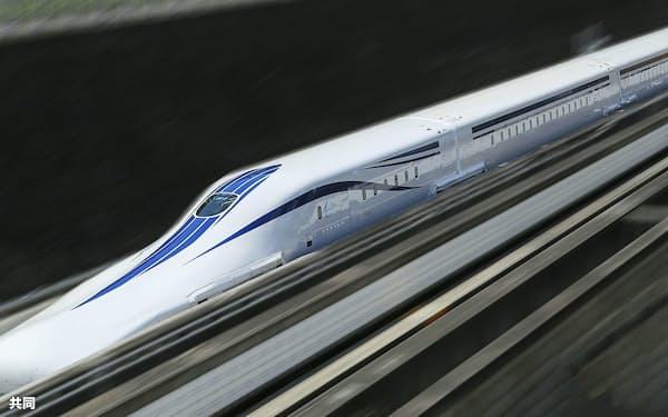 リニア中央新幹線の試験車両(JR東海提供)=共同