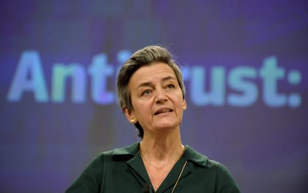 EUのベステアー上級副委員長は「市場に損害を与えた」と批判した(写真は2020年11月)=ロイター