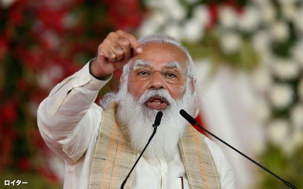 インドのモディ首相は28日、ロシアのプーチン大統領にコロナ対策で感謝を述べた=ロイター