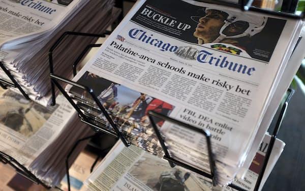 トリビューン・パブリッシング傘下の名門地方紙「シカゴ・トリビューン」=AP