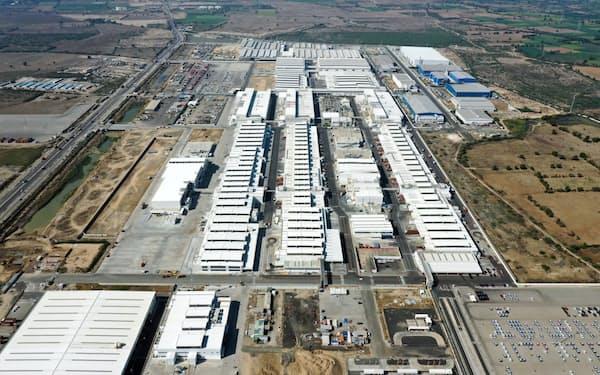 西部グジャラート州にあるスズキの工場