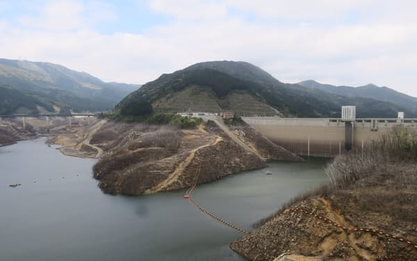 五ケ山ダムは福岡県で最大の貯水量を誇る