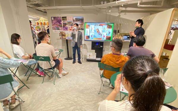 那須高原ビールは足利銀行の仲介で香港の試飲会に参加した(足利銀提供)