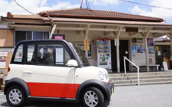 2人乗りの超小型EVを上総牛久駅前で貸し出す(千葉県市原市)