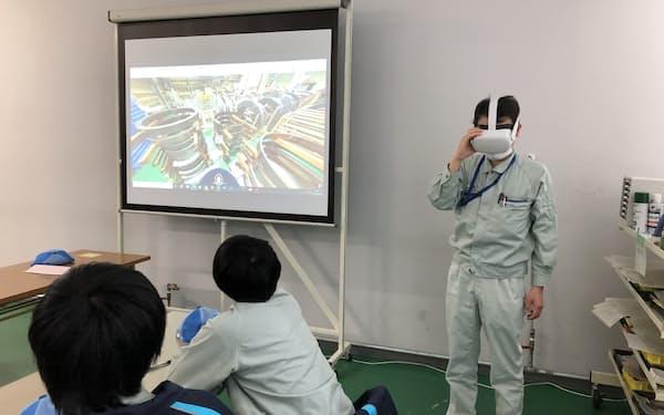大同メタルは自社工場での新人研修にVRを導入し、実証実験を実施した