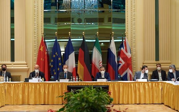 ウィーンで1日開かれた核合意の当事国会合=在ウィーンEU代表部提供