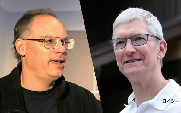 エピックのティム・スウィーニーCEOとアップルのティム・クックCEO