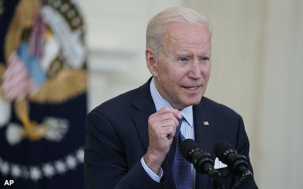 バイデン米大統領は6月に英国とベルギーを訪れる(4日、ワシントン)=AP