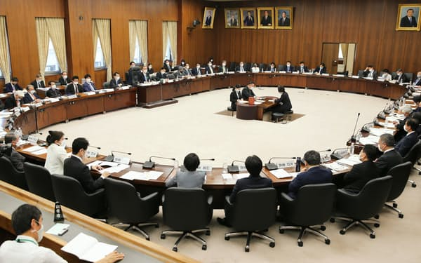 国民投票法改正案を巡り、質疑が行われた衆院憲法審査会
