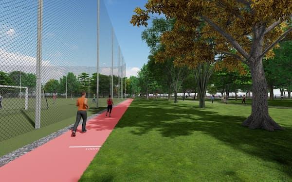 運動施設などを備えた「MUFGパーク」(仮称)を開設する