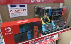 スイッチは品薄が続く(京都市内の家電量販店)