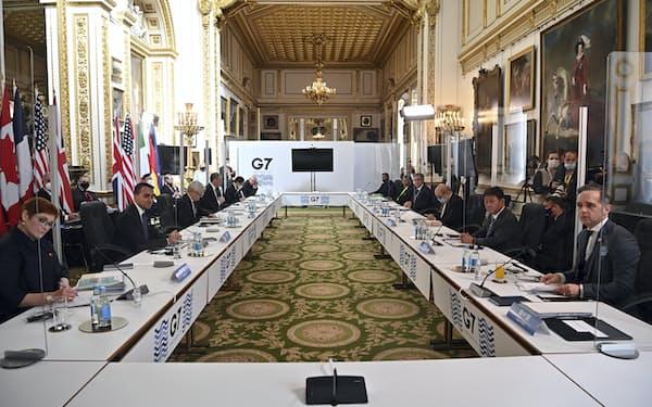 2年ぶりに対面協議で開かれたG7外相会合では2日目の討議で90分間、中国情勢を討議した=AP