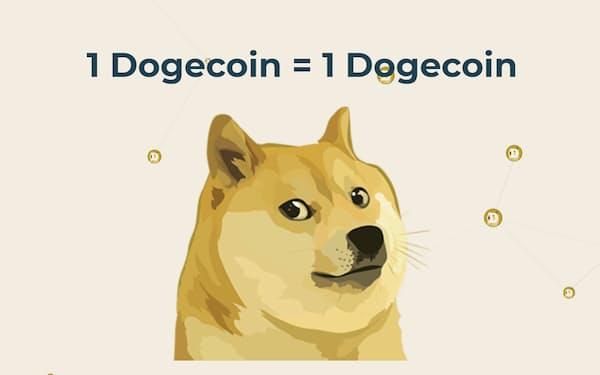 ドージコインの価格が高騰している(ドージコインのホームページより)
