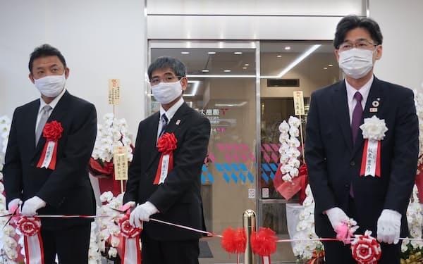 自社ビルを構えることで大阪における地元色を強める(大阪市中央区)