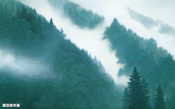 「唐招提寺御影堂障壁画 山雲」(部分、1975年、唐招提寺蔵)