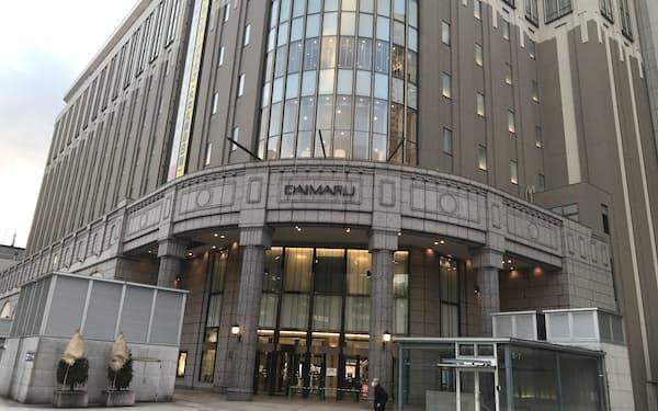 緊急事態宣言のあった20年4月から反動増となった(大丸札幌店)
