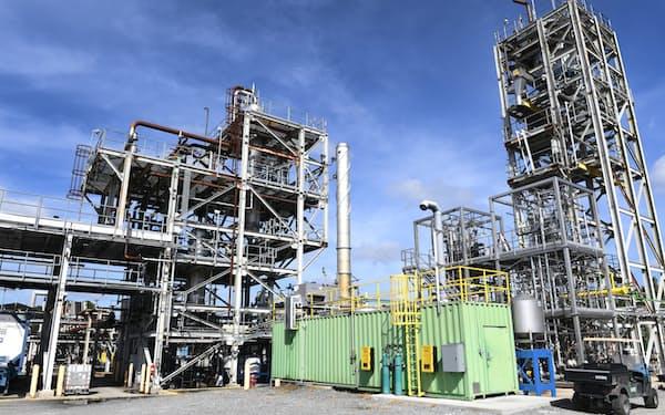米ランザテック子会社が建設中のエタノールからジェット燃料を作る工場=同社提供