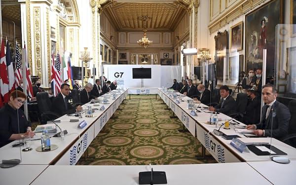 G7外相会合の共同声明では台湾情勢にも言及した(AP=共同)