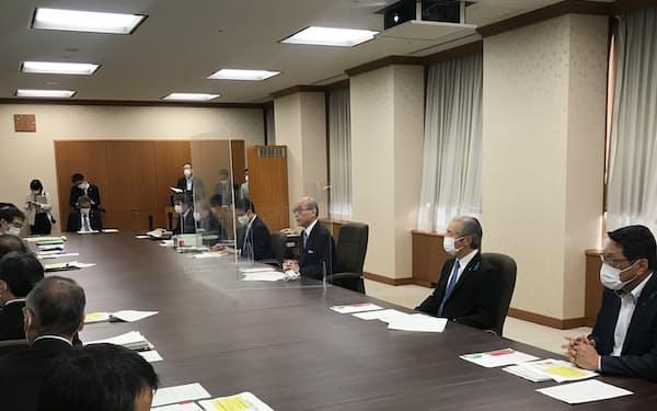 石川県は金沢市を対象に「まん延防止等重点措置」の適用を要請(6日夕方、石川県庁)