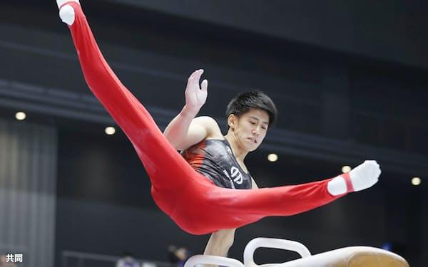 4月の全日本選手権を制した橋本。代表争いで優位な立場にいる(代表撮影)=共同