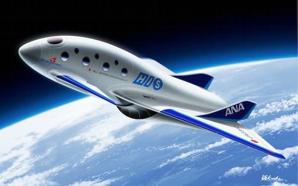 PDエアロスペースは25年までに宇宙旅行の商用化を目指す=写真は機体のイメージ