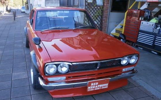 日産自動車の1971年式スカイラインGTーR(通称箱スカ)=中古車販売のレッドメガフォン提供