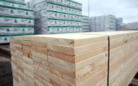 日本も北米産材の輸入量が大幅に減少している
