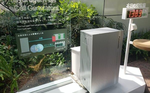 パナソニックが開発した燃料電池(写真は家庭向けの実験機)