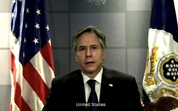 ブリンケン米国務長官は7日、国連安保理の会合で「人権と尊厳を国際秩序の中核に据えるべきだ」と演説した