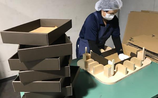 ギフト用の箱を作る作業は自動化が難しかった